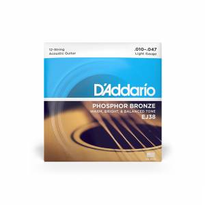 D'Addario - Acoustic Strings (12 String, Phosphor Bronze) 10-47[EJ38] 1