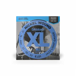D'Addario - Electric (XL Nickel Jazz) 12-52 [EJ21] 1