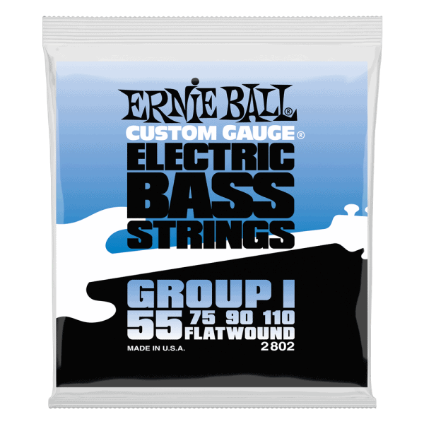 Ernie Ball Flatwound Electric Bass Strings- Group I