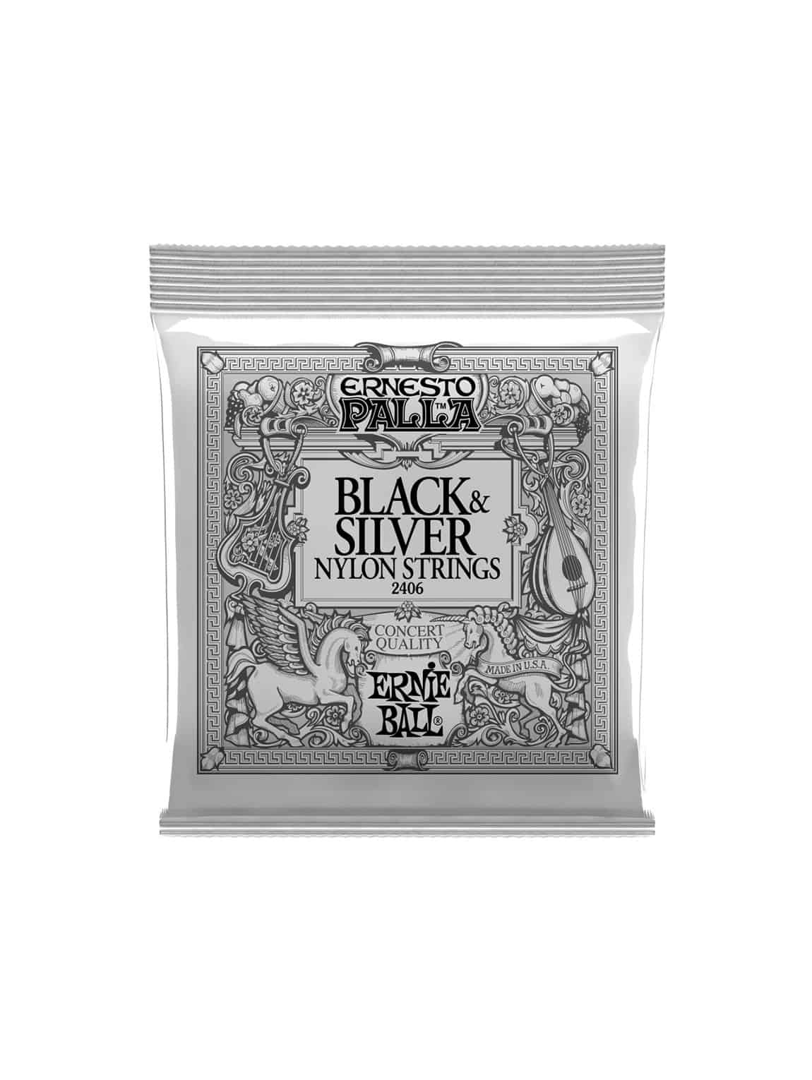 Ernie Ball - Nylon (Black & Silver) [2406]