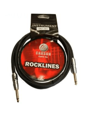 Carson Rocklines Instrument Cable : Select Length - 20ft (6m) Right Angle to Right Angle