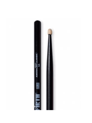 Drum Sticks Vic Firth 5AB - Black with Wood Tips