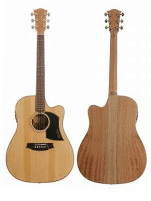 Cole Clark Fat Lady 1 Acoustic Guitar - Bunya Maple (CCFL1ECBM)