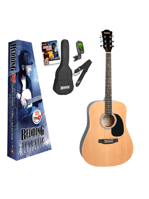 Redding Dreadnought Acoustic Guitar Pack