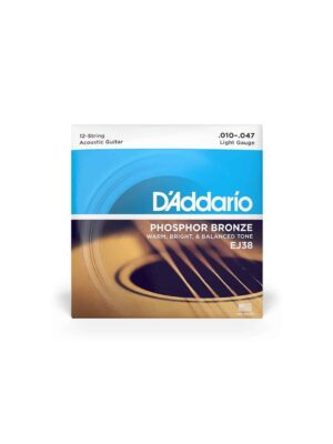 Daddario - EJ38- 12 strings Acoustic Guitar Set- 10-47 gauge