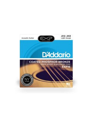 Daddario +EXP16 - Coated Light 12-53 Phosphor Bronze Acoustic Guitar Strings
