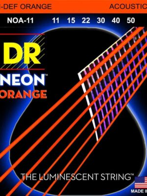 DR Hi-Def Neon Orange NOA-11 ML 11-50 K3 Coated Acoustic Guitar Strings