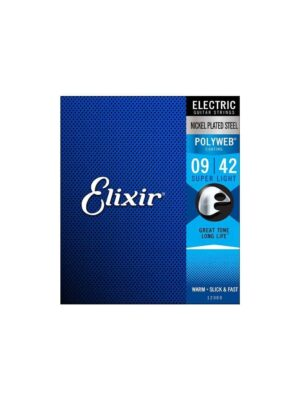 Elixir 12000 - Nickle Plated Steel with Polyweb - 9-42 Gauge