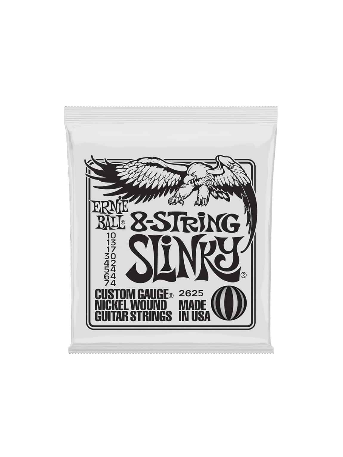 Ernie Ball -2625 -Slinky 8- String Electric 10-74 Gauge