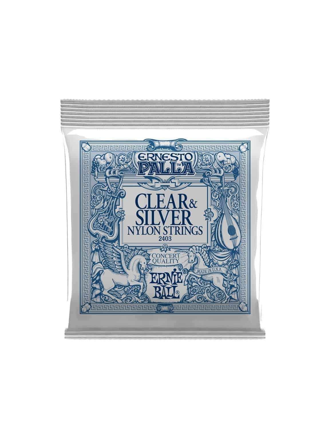 Ernesto Palla -2403 -Clear & Silver Nylon Classical Strings