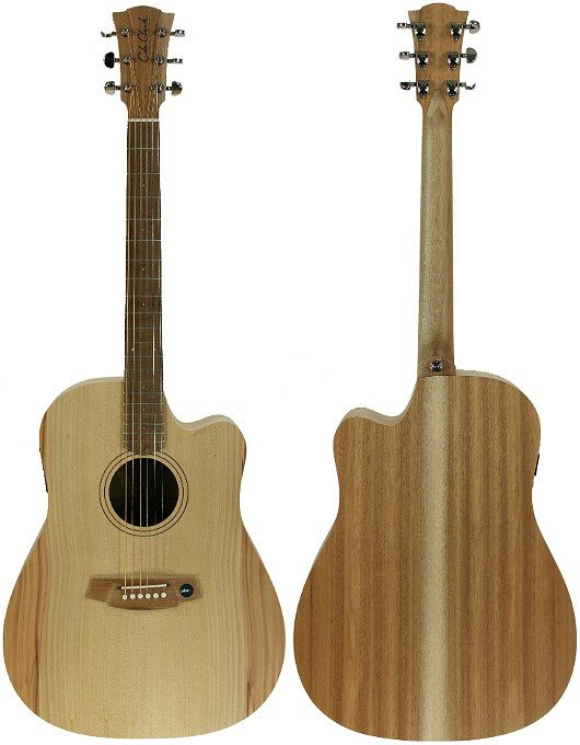 Cole Clark Fat Lady 1 CCFL1-ECBM Bunya Maple Acoustic Guitar