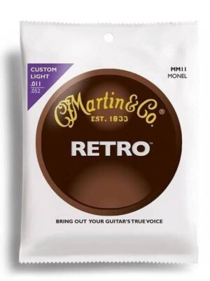 Martin Retro Custom Light Acoustic Strings - 11-52