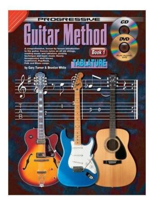 Progressive Guitar Method TAB edition: Book 1 with CD/DVD