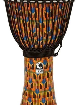 "Toca Freestyle II Djembe 14"" in Kente Cloth with Bag"