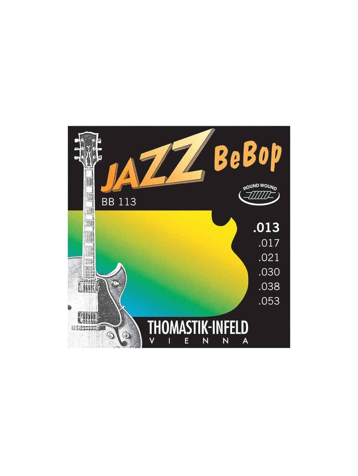 Thomastik - BB113- Jazz Bebop Electric Acoustic Guitar Strings - 13-53 Gauge
