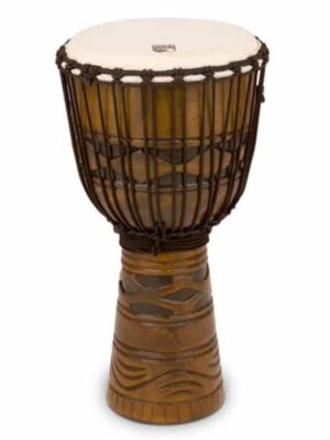 "Toca 12"" Rope Tuned Djembe - African Mask"