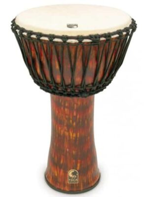 "Toca Freestyle II Rope 14"" Tuned Djembe - Lava Burst"