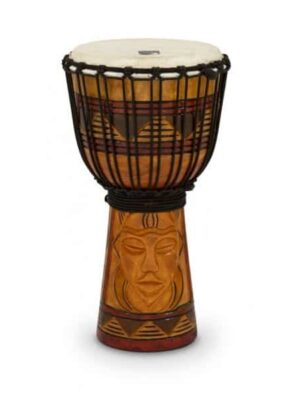 Toca Rope Tuned 8″ Djembe – Tribal Mask