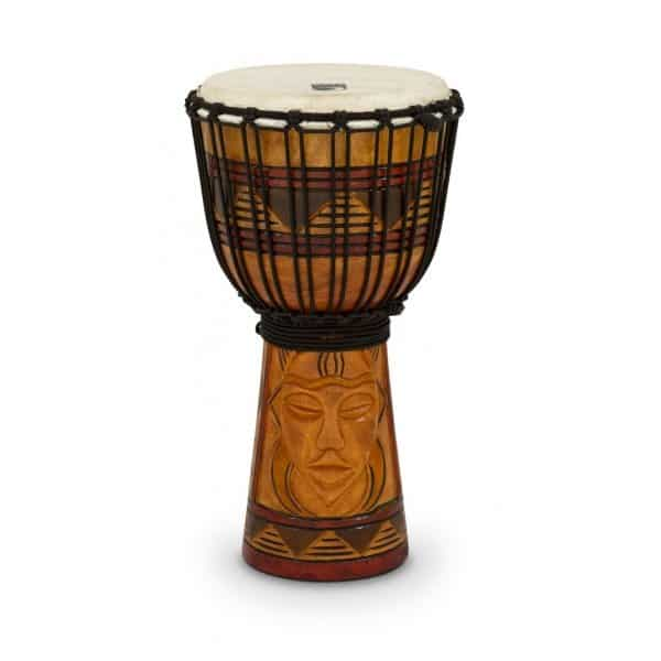 "Toca Rope Tuned 8"" Djembe - Tribal Mask"