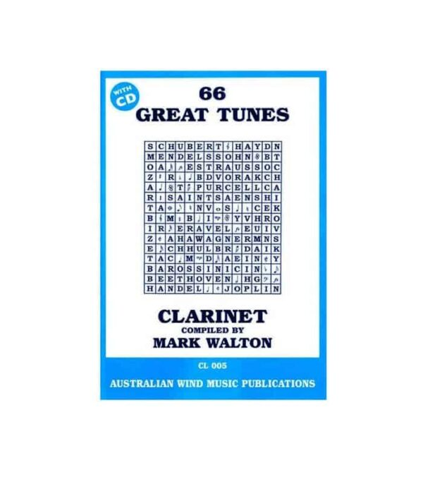 66 Great Tunes Clarinet by Mark Walton
