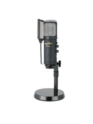 Soundart Professional Studio Condenser USB Microphone Pack w/ Stand, Case