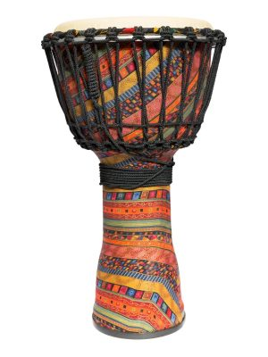 Drumfire 10″ Synthetic Head Rope Djembe (Multicolour)