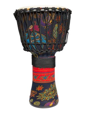 Drumfire 12″ Synthetic Head Rope Djembe (Multicolour)